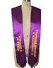 graduation sash with embroidery